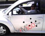 """Sticker ornament auto """"15 gauri gloante"""" - Model 2"""