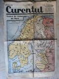 WWII -HARTA TEATRUL DE RAZBOI DIN NORD -EXTRAS DIN ZIARUL CURENTUL 22 FEBR. 1940