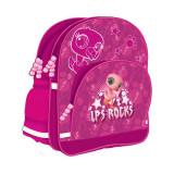 Ghiozdan Littlest Pet Shop Flamingo, roz, pentru scoala, 38x30x17 cm