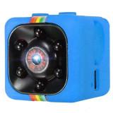 Mini Camera Spion iUni SQ11, Full HD 1080p, Audio Video, Night Vision, TV-Out, Blue