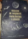 Carte veche,CULEGERE DE CONFERINTE de POPULARIZARE A STIINTEI,1956,Tp.GRATUIT