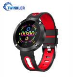 Cumpara ieftin Bratara fitness inteligenta TKY-DM58 Plus cu functie de monitorizare ritm cardiac, Tensiune arteriala, Monitorizare somn, Pedometru, Notificari, Rosie