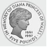 ANGLIA - LISTA monedelor de 5 LIRE, Europa
