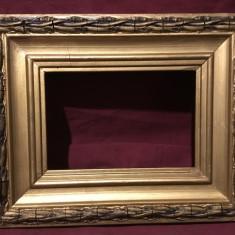 Vintage / Design -  Veche rama de lemn pentru fotografii / oglinda / tablou !