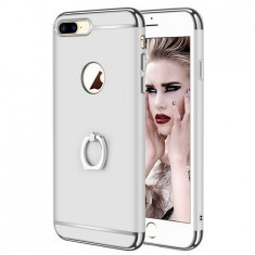 Husa telefon Apple Iphone 8 Plus Ultrasubtire Lux Silver Matte S Ring