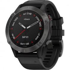 Smartwatch Fenix 6 Sapphire Edition Gri Si Curea Neagra