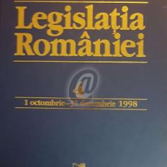 Legislatia Romaniei, 1 octombrie-31 decembrie 1998, vol. 4
