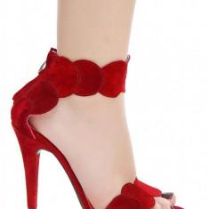 Sandale Aubrielle Rosii