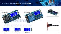 Controler incarcare baterie 6-60V 10A 30A foto