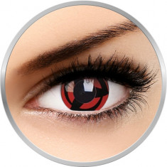 Fancy Kakashi - lentile de contact colorate rosii/negre anuale - 360 purtari (2 lentile/cutie)