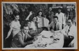Fotografie originala interbelica , Gheorghe Dinu ( Stephan Roll ) , petrecere