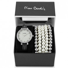 Set ceas de dama si bratari, Pierre Cardin, PCX8315L370, Argintiu