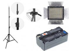 Kit lumina continua Lampa Yongnuo YN900 + 2x Acumulatori NP F+ incarcator+ stativ foto