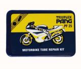 Set petice vulcanizare Pang PF25 pentru camera motociclete si scutere, 5 petice si solutie lipit Kft Auto