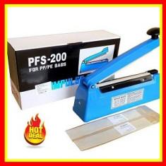 Aparat lipit si debitat pungi PFS200, 300 W Aparat Vidat Sigilat 200mm