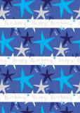 Hartie de impachetat - Stars Blue   Glick