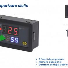 Releu temporizare programabil ciclic centrala peleti snec 12V sau 220V