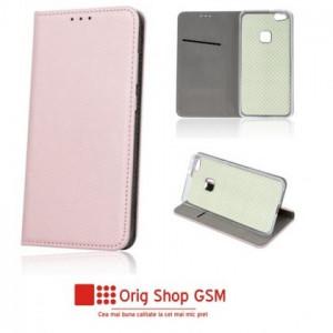 Husa Flip Carte Smart Universal 4,5 - 5,0 inch Rose Gold