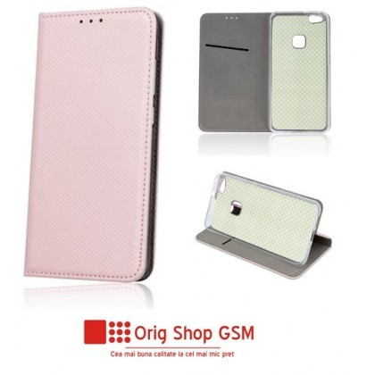 "Husa Flip Carte Smart Universal 4,5"" - 5,0"" inch Rose Gold"