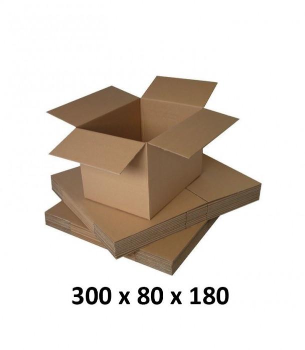 Cutie carton 300x80x180, natur, 3 starturi CO3, 435 g/mp