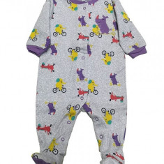 Salopeta / Pijama bebe cu desene Z15, 1-2 ani, 1-3 luni, 12-18 luni, 3-6 luni, 6-9 luni, 9-12 luni, Din imagine