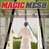 Cumpara ieftin Plasa anti insecte cu magneti pentru usa maxim 220x150cm culoare alba