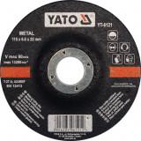 Disc cu degajare pentru slefuit metal 115x6x22 mm YATO