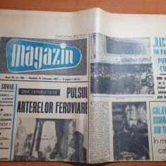 magazin 18 februarie 1967-filmul romanesc Dacii,ziua ceferistilor,CFR