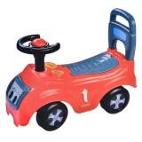 Masinuta cu volan pentru copii, plastic, Rosu, Oem