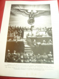 Fotografie tiparita ww2- Hitler in Reichstagul German ,in timpul razboiului ,dim