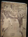 Revista Sport(nr. 7/1982)-U Cluj campioana la baschet, Jiul Petrosani prezentare