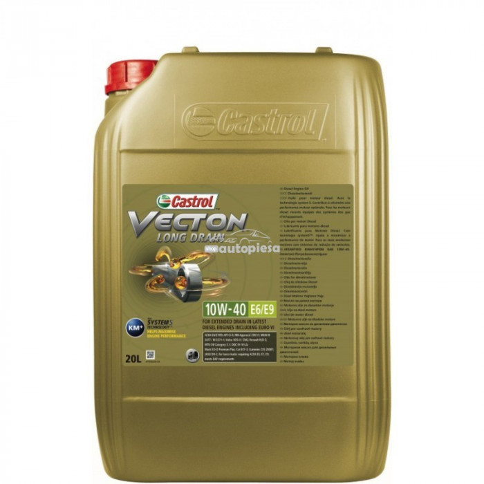 Ulei motor Castrol Vecton Long Drain 10W40 E6/E9 20L 15A1A5