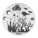 Șablon ștampilare DXE07 - Halloween