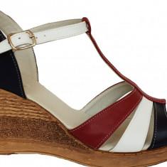 Sandale dama cu talpa ortopedica Ninna Art 134 multicolor