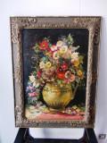 """COMAN ARDELEANU, """"Vas cu flori"""", 82x62 cm, ulei/carton"""