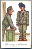 AX 57 CP VECHE INTERBELICA - UMORISTICA MILITARA - SCENA DIN VIATA SOLDATEASCA