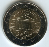 ESTONIA moneda 2 euro comemorativa 2019_universitatea Tartu - UNC