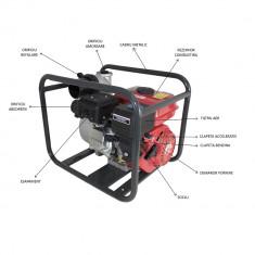 Motopompa 2 Toli, 30 m cubi / h, motor 4 timpi, max 28 metri
