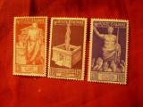 3 Timbre Italia 1937 Aniversare Kaizer Augustus 2000 Ani - fara guma, Nestampilat