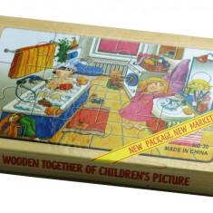 Set puzzle Acasa 4 buc lemn