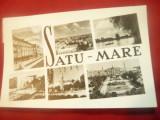 Ilustrata Satu Mare cu 6 vederi ,circulat 1962