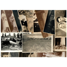 Lot 19 fotogarfii vechi ca.1920-50, doua cu inundatie