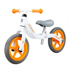 Bicicleta fara pedale (pedagogica) FIVE Libra scaun reglabil Alb Portocaliu