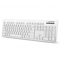 Tastatura waterproof Singapore Esperanza, USB, 103 taste, Alb