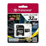 Card Transcend microSDHC 32GB Class 10 UHS-I 600x cu adaptor SD