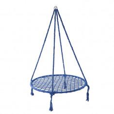Hamac suspendat Garden Star, 120 x 97 cm, suporta 100 kg, impletitura poliester/bumbac