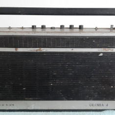 RADIO GLORIA 4  TEHNOTON  MODEL RP-1524 DEFECT , PENTRU PIESE .