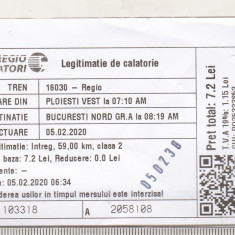 bnk div Regiotrans calatori - bilet tren Ploiesti Bucuresti