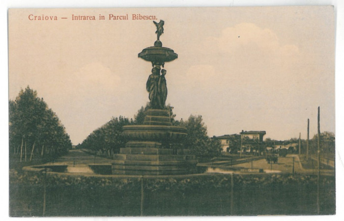 4464 - CRAIOVA, Bibescu Park, Romania - old postcard - unused