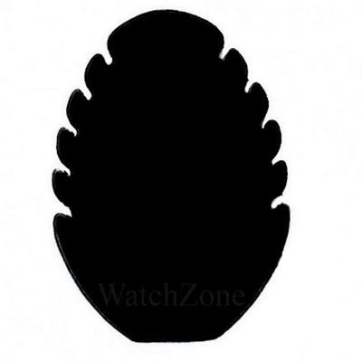 Suport prezentare coliere tip frunza gri / negru foto